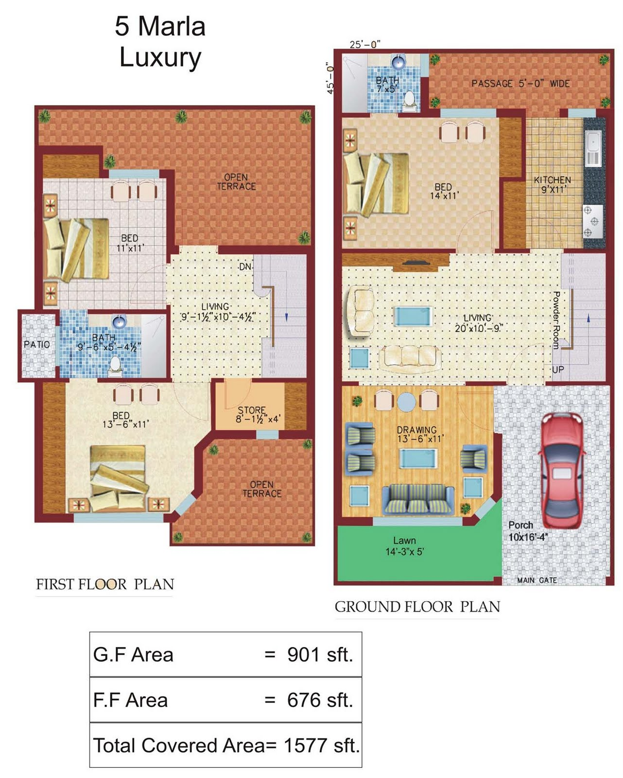 Marla Luxury with Ground floor and first floor (Click on the image ...
