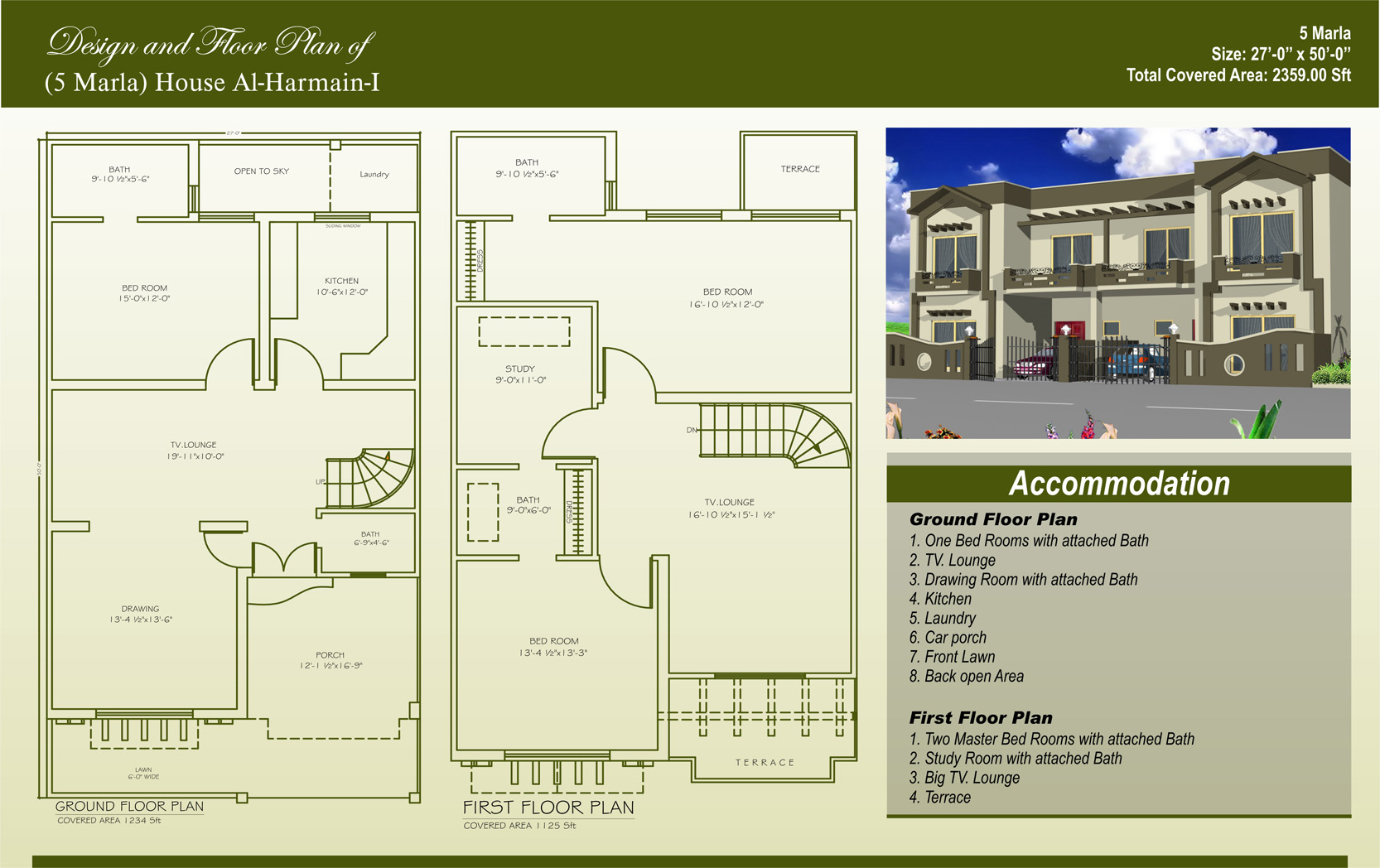 2 Storey Modern House Floor Plan 5 Marla House Plans Civil Engineers Pk