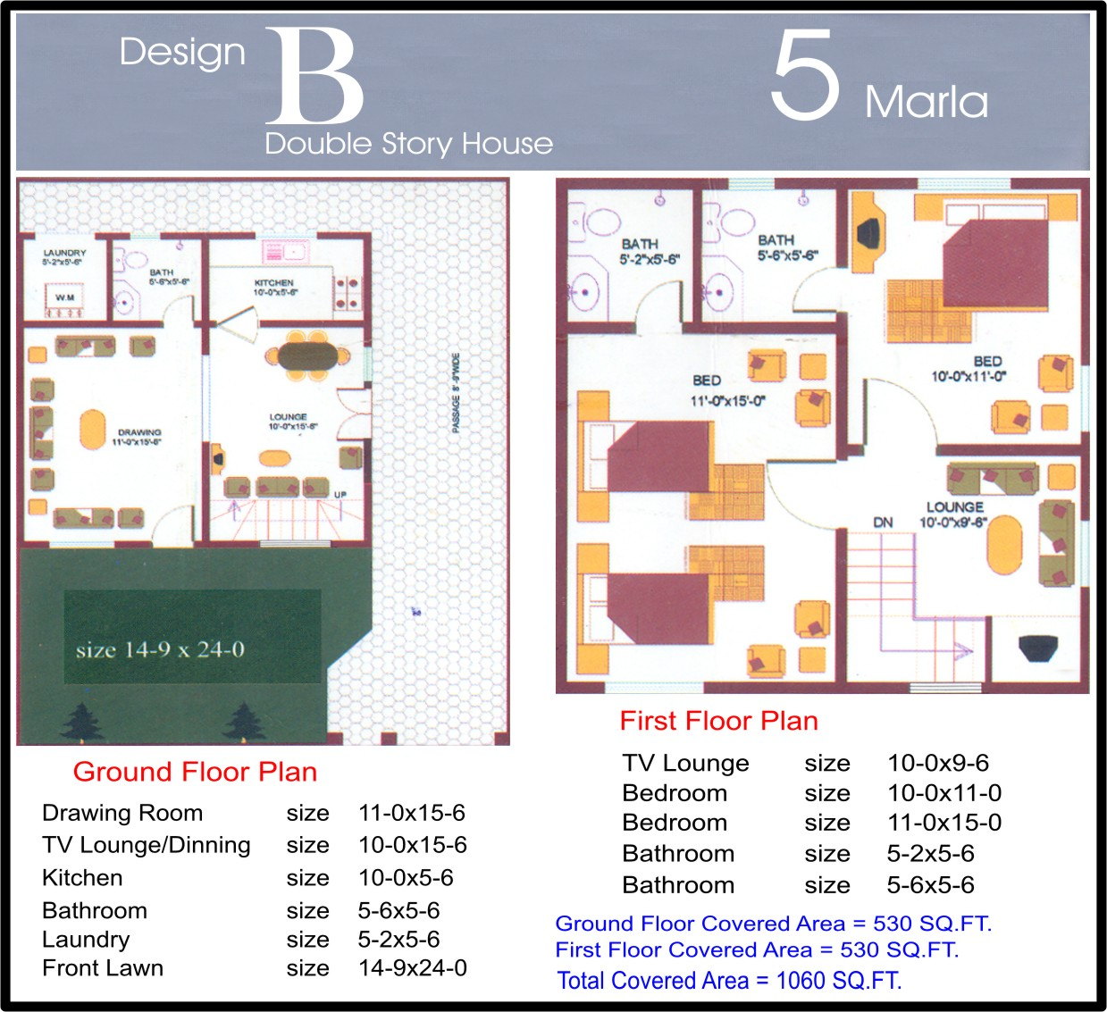 3 5 marla house map joy studio design gallery best design for Maps of home design