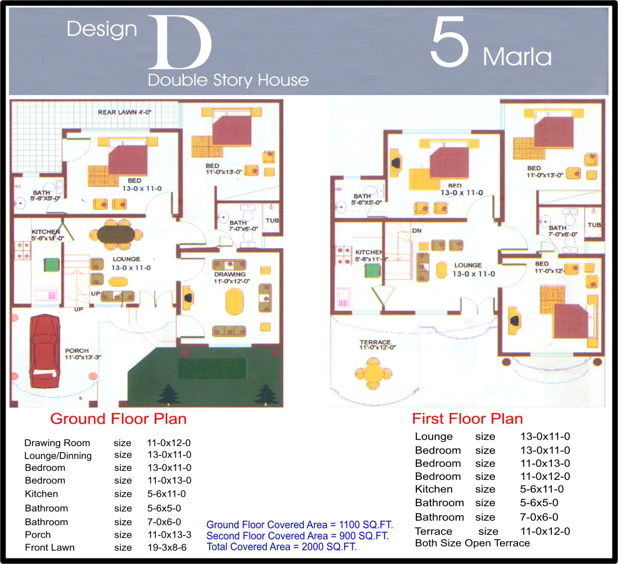 5 marla house plans civil engineers pk for Room design map