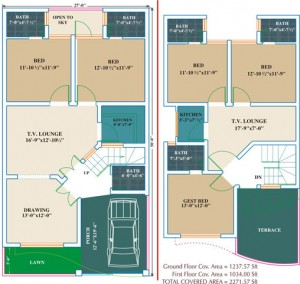 22 Marla House Plans - Civil Engineers PK | tile | home design 6 marla