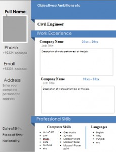 Download Civil Engineering CV/Resume Samples