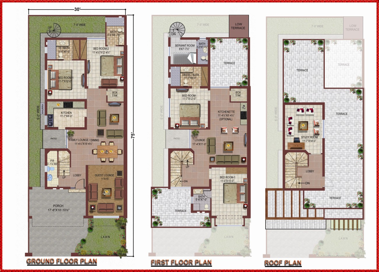 Naksha of 5 marla house map joy studio design gallery Civil home design