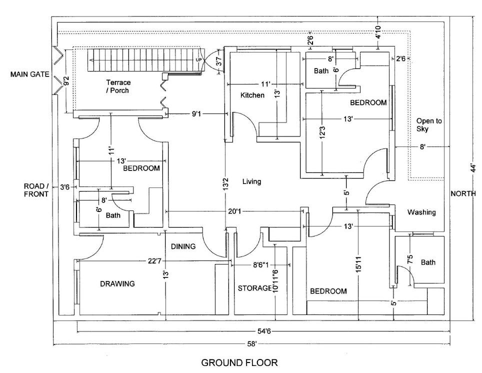 7 marla house map design pakistan joy studio design for House map design