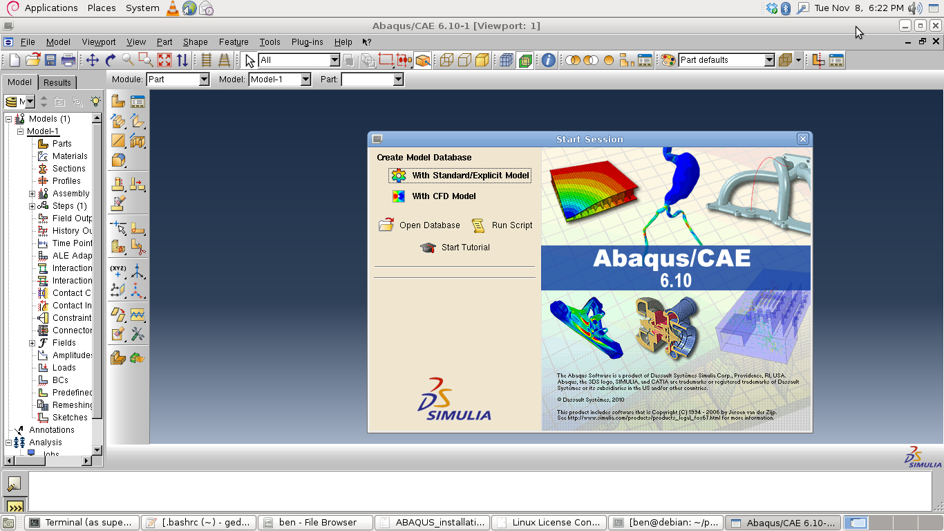 abaqus 6 10 with crack