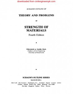 THEORY AND PROBLEMS OF STRENGTH OF MATERIALS
