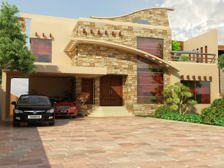 Front views civil engineers pk for Pakistani new home designs exterior views