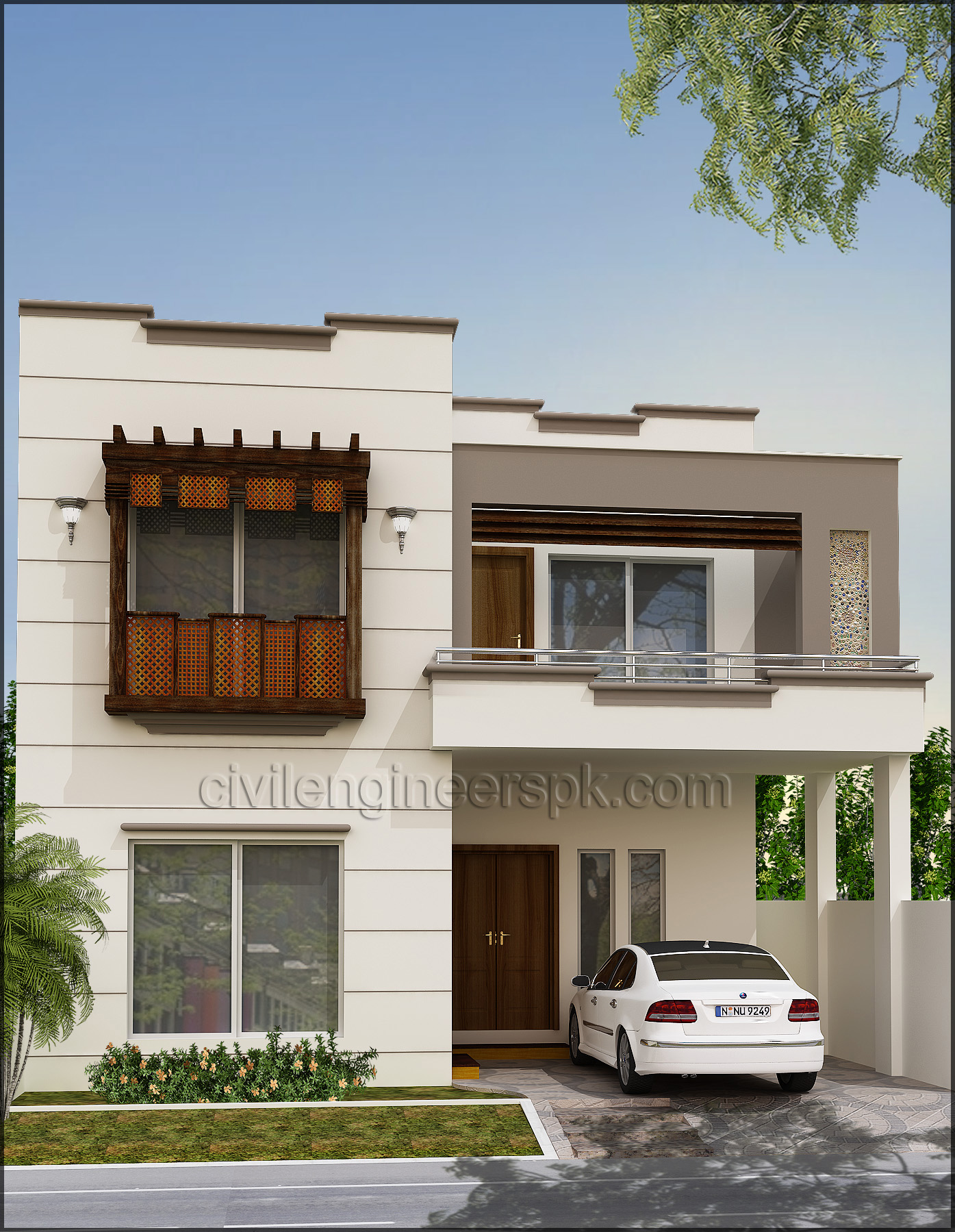 Front views civil engineers pk for Front look of small house
