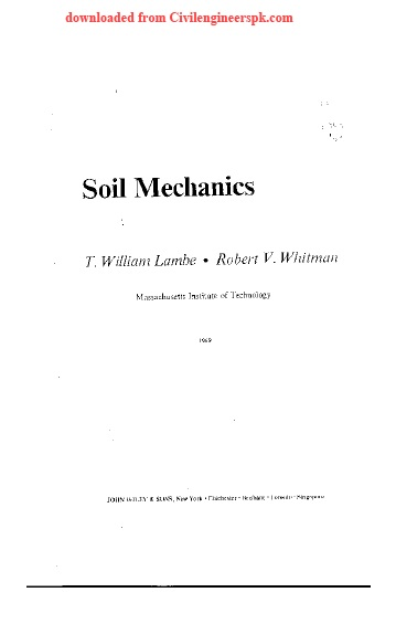 Lambe soil mechanics solution manual rapidshare for Soil mechanics pdf
