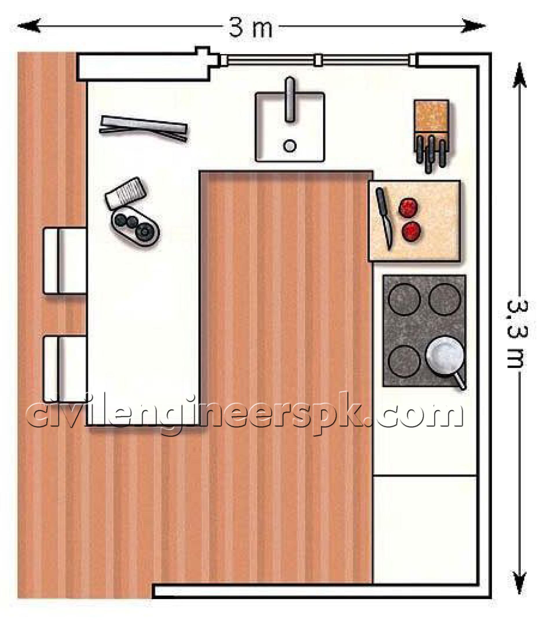 Kitchen design 10 civil engineers pk for Civil kitchen designs
