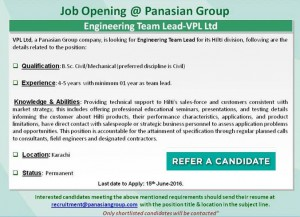 Job Opening in Panasian Group
