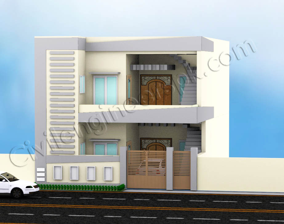 5 marla house design civil engineers pk for Home design 5 marla corner