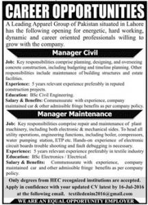 Civil Career Opportunities