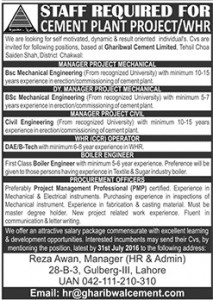 Manager Project Civil Required