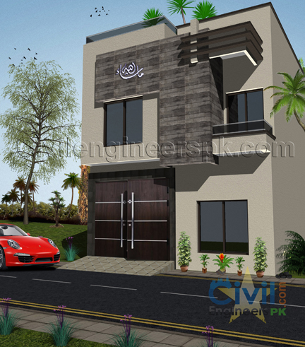New 3 marla house design civil engineers pk Construction cost of 5 marla house