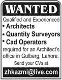 Architects Quantity Surveyors Wanted