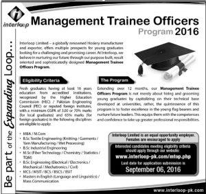Management Trainee Officers Program 2016