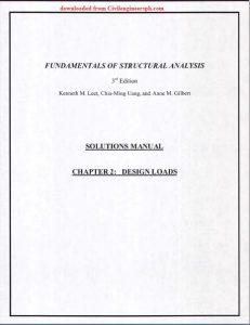 Solution Manual Fundamentals of Structural Analysis Leet Uang Gilbert