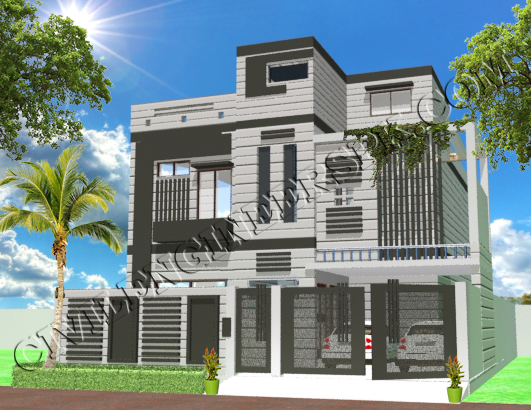 10 Marla House Design With 3d View Civil Engineers Pk